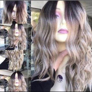 Accessories - Ash blonde wig ombré Chicago Lacefront Wavy USA